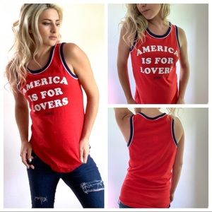 PINK VICTORIA'S SECRET America is for Lovers Tank